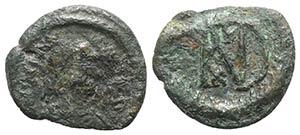 Justinian I (527-565). Æ 20 Nummi (20mm, ...