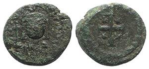 Justinian I (527-565). Æ 10 Nummi (17mm, ...