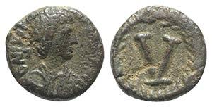 Justinian I (527-565). Æ 5 Nummi (11mm, ...
