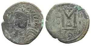 Maurice Tiberius (582-602). Æ 40 Nummi ...
