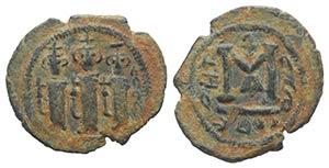 Islamic, Arab-Byzantine, c. 685-700. Æ Fals ...