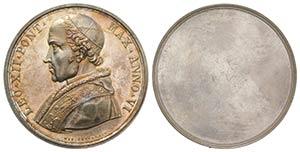 Papal, Leone XIII (1878-1903). Uniface AR ...