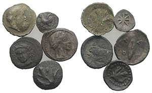 Sicily, lot of 5 AR Fractions, to be ...