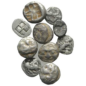 Macedon and Thrace, lot of 10 AR Fractions, ...