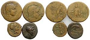 Pontos, lot of 4 Greek Æ coins, including ...