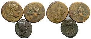 Pontos, lot of 3 Greek Æ coins, including ...