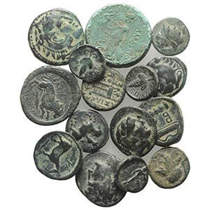 Lot of 15 Greek Æ coins, to be catalog. Lot ...