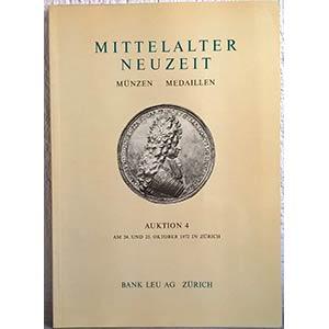 BANK LEU AG – Auktion n. 4. Zurich, 24-25 ...