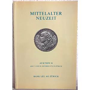 BANK LEU AG – Auktion n. 16. Zurich, 27-28 ...