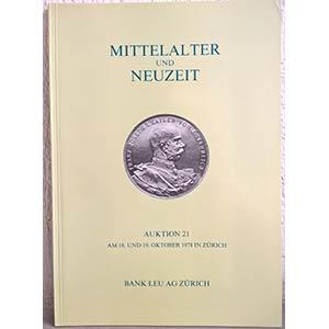 BANK LEU AG – Auktion n. 21. Zurich, 18-19 ...