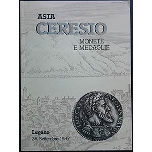 Ceresio. Asta di Monete e Medaglie. Lugano, ...