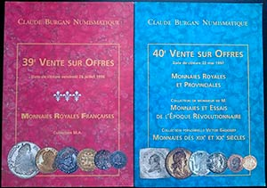 Claude Burgan Numismatique. Aste 39 e 40. ...
