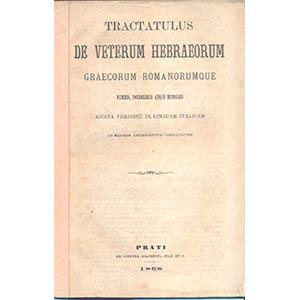 ANONIMO. – Tractatulus de veterum ...