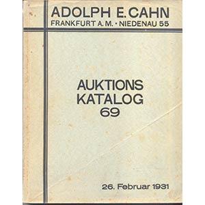 CAHN A. – Auktion 69. Sammlung Freiherr l, ...