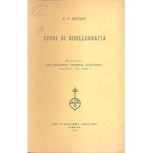BASCAPE G.C. - Studi di sigillografia. ...