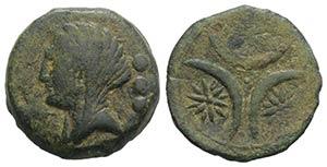 Northern Apulia, Venusia, c. 210-200 BC. Æ ...