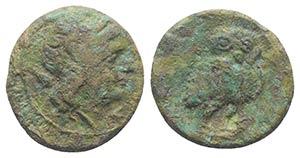 Etruria, Uncertain, late 3rd century BC. Æ ...