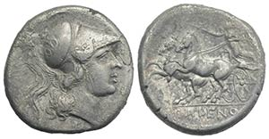 Northern Campania, Cales, c. 265-240 BC. AR ...