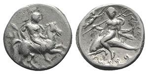 Southern Apulia, Tarentum, c. 335-333 BC. AR ...