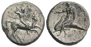 Southern Apulia, Tarentum, c. 302-280 BC. AR ...