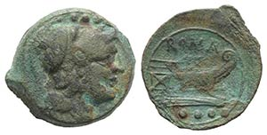 Anonymous, Sardinia, after 211 BC. Æ Triens ...