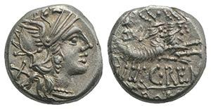 C. Renius, Rome, 138 BC. AR Denarius (15mm, ...
