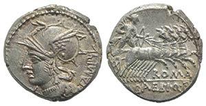 M. Baebius Q.f. Tampilus, Rome, 137 BC. AR ...