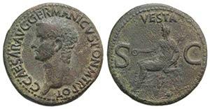 Gaius (Caligula, 37-41). Æ As (28mm, ...