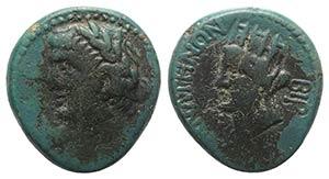Claudius (41-54). Decapolis, Canata. Æ ...