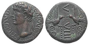 Claudius (41-54). Phoenicia, Berytus. Æ ...