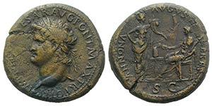 Nero (54-68). Æ Sestertius (34.5mm, 24.32g, ...