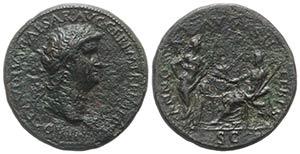 Nero (54-68). Æ Sestertius (35mm, 23.52g, ...