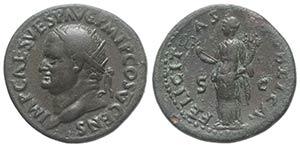 Vespasian (69-79). Æ Dupondius (26mm, ...