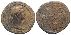 Domitian (81-96). Æ As (29mm, 12.83g, 6h). ...