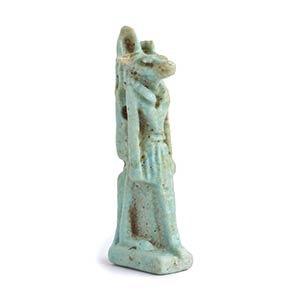 Amuleto di Anubi in faience Egitto ...