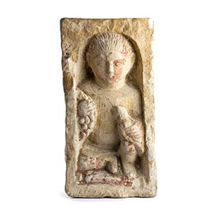 Stele funeraria di fanciullo Egitto Copto, ...