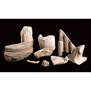 Gruppo di dieci decorazioni marmoree II - IV ...