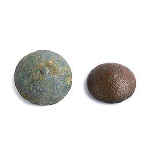 Coppia di pesi da muratore in bronzo I - II ...