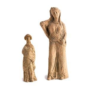 Coppia di stauette votive IV - III secolo ...