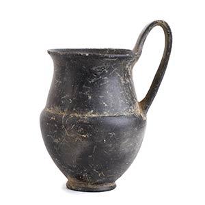Brocchetta etrusca in bucchero grigio V ...