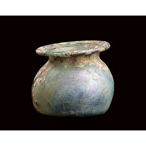 Olletta in vetro I - III secolo d.C. alt. cm ...