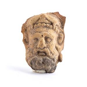 Volto di Eracle III - II secolo a.C. alt. cm ...