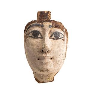 Maschera lignea di sarcofago Egitto, Periodo ...