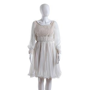 TWO DRESSES60s1) A Pompian shop white ...