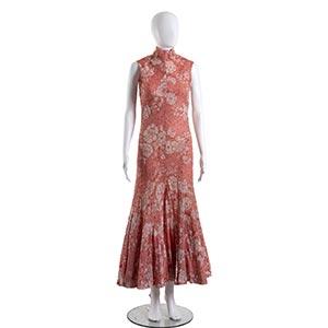 GERMANA MARUCELLI DRESSLate 60sA pink silk ...