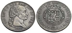 Vittorio Emanuele I (1802-1821) - 5 Lire - ...