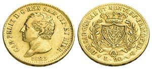Carlo Felice (1821-1831) - 20 Lire - 1825 T  ...