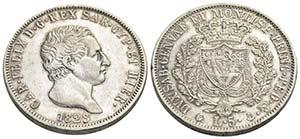 Carlo Felice (1821-1831) - 5 Lire - 1828 G   ...