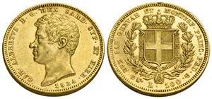 Carlo Alberto (1831-1849) - 100 Lire - 1834 ...