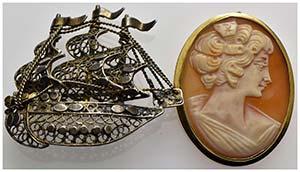 Gioielli -  - Spilla - Cameo montato in oro ...